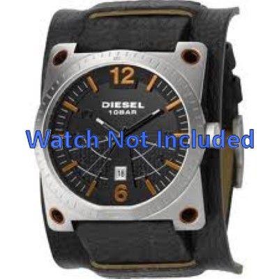 42d764c37da Pulseira de relógio DZ1212 Couro Preto 28mm
