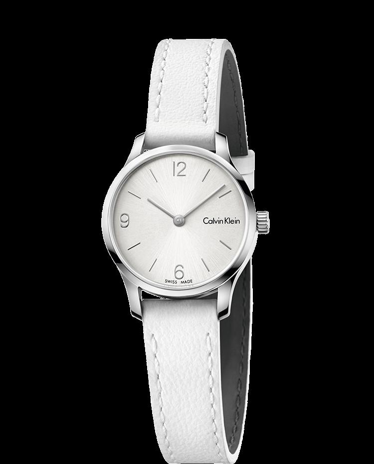 Pulseira de relógio Calvin Klein K7V231 Couro Branco 12mm b45d5eb7b5
