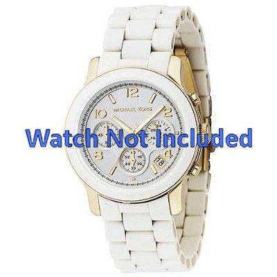 ac5e9c233 Pulseira de relógio Michael Kors MK5145 Aço Branco 20mm