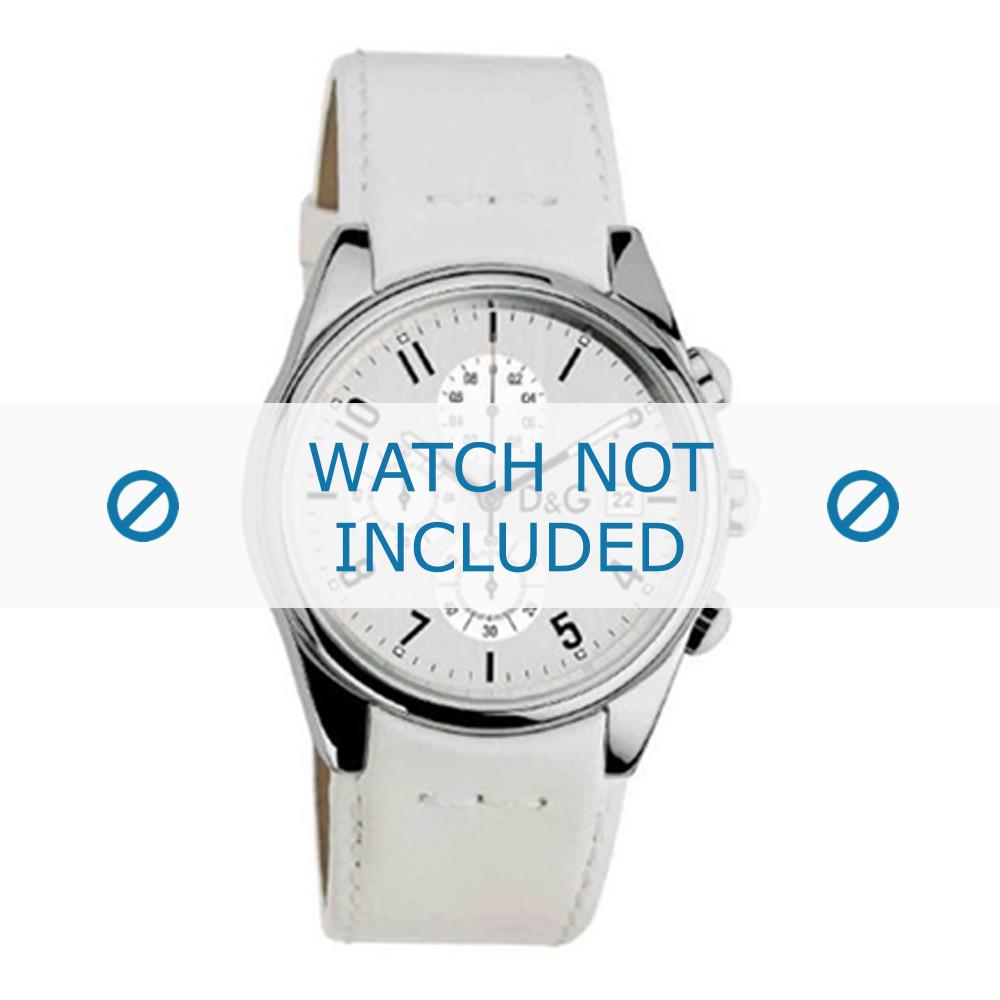 6ddd32fb450 Dolce   Gabbana pulseira de relogio 3719770084 Couro Branco 20mm + costura  branca