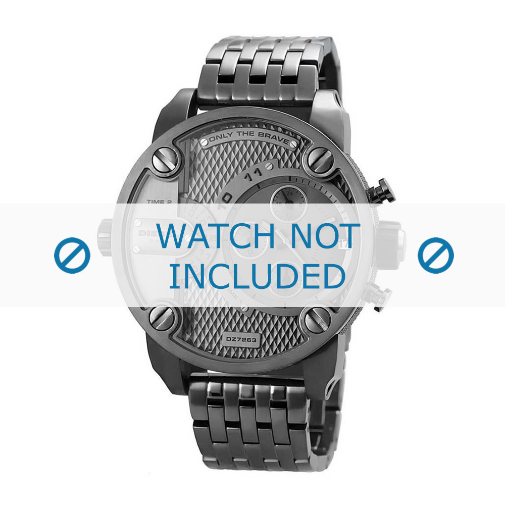 7150928a6f6 Diesel pulseira de relogio DZ7263 Metal Cinza antracite 24mm