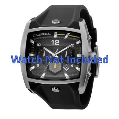e77827bd65c Pulseira de relógio Diesel DZ4165 Silicone Preto 33mm