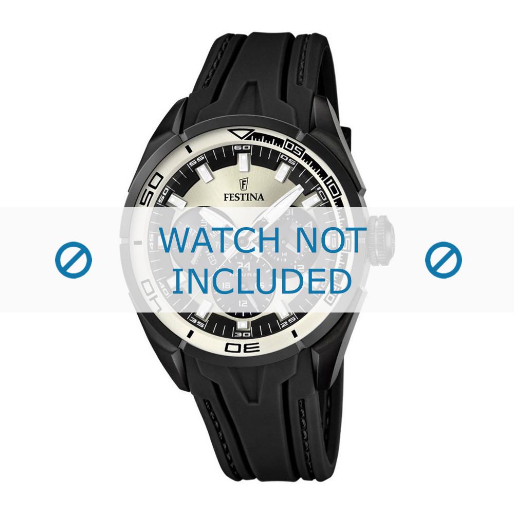 e79676a356a Pulseira de relógio Festina F16610-1 Borracha Preto 23mm
