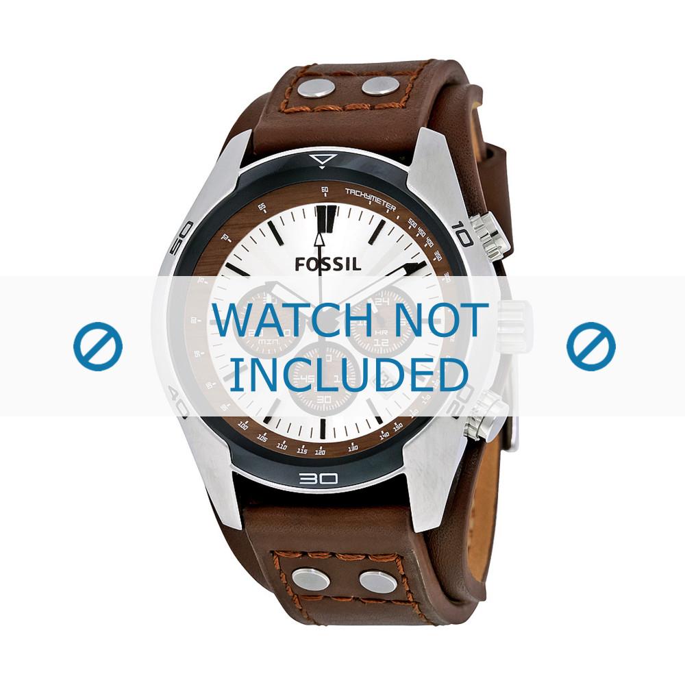 739221082157d Fossil CH-2565 pulseira de relógio Couro Castanho escuro - Compre agora!