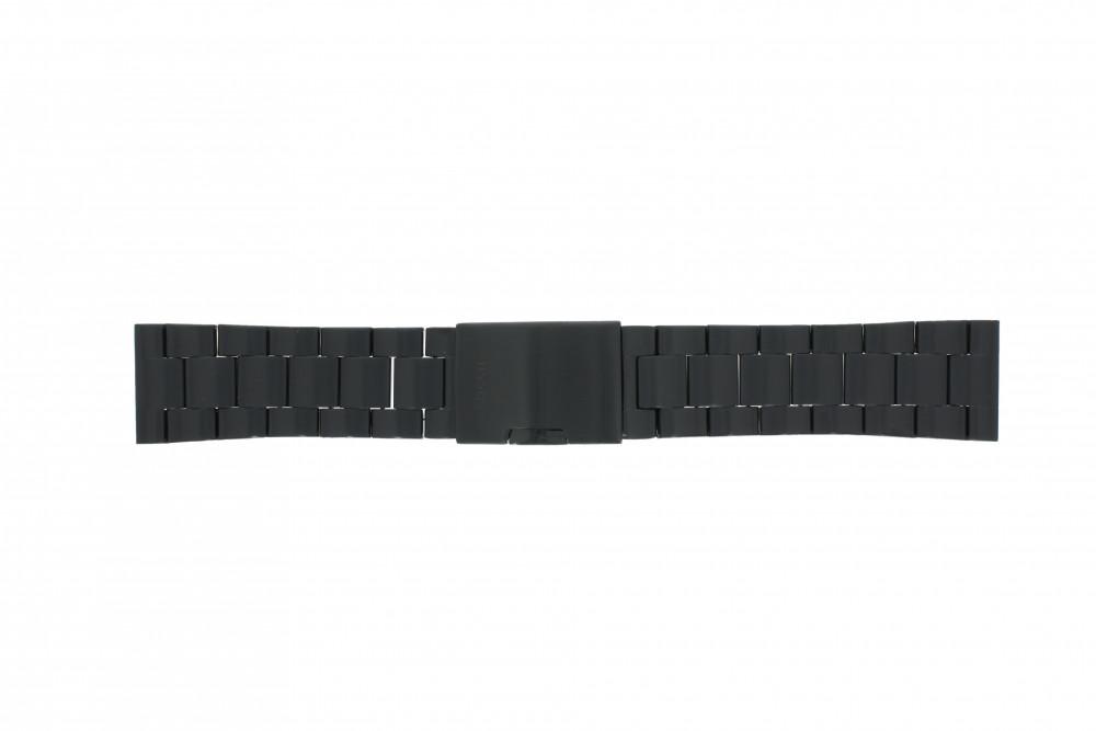 84a32106341 Pulseira de relógio Fossil FS4552 Aço Preto 24mm