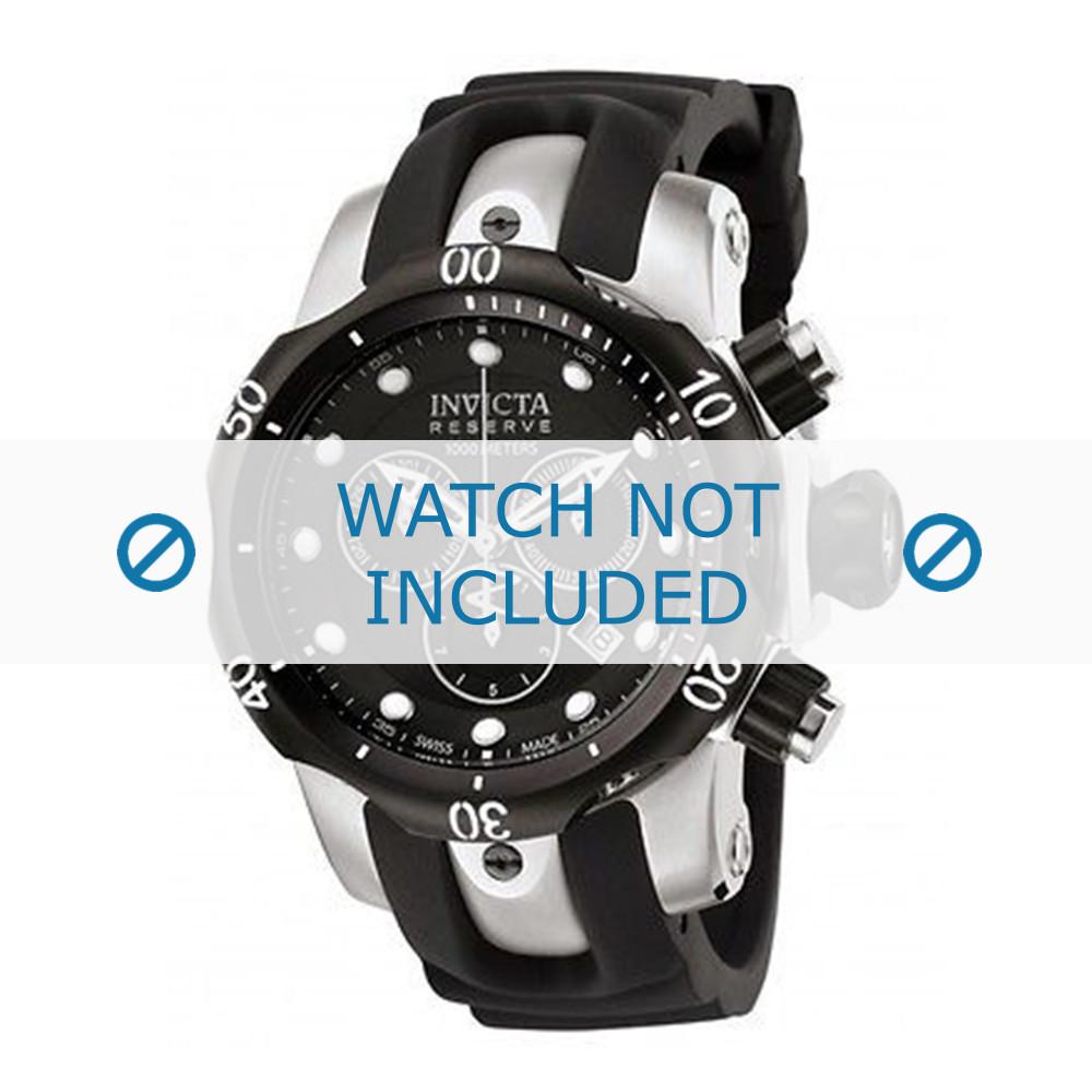 3cba7faf8e7 Invicta pulseira de relogio 0947 Venom Reserve Borracha   plástico Preto  22mm