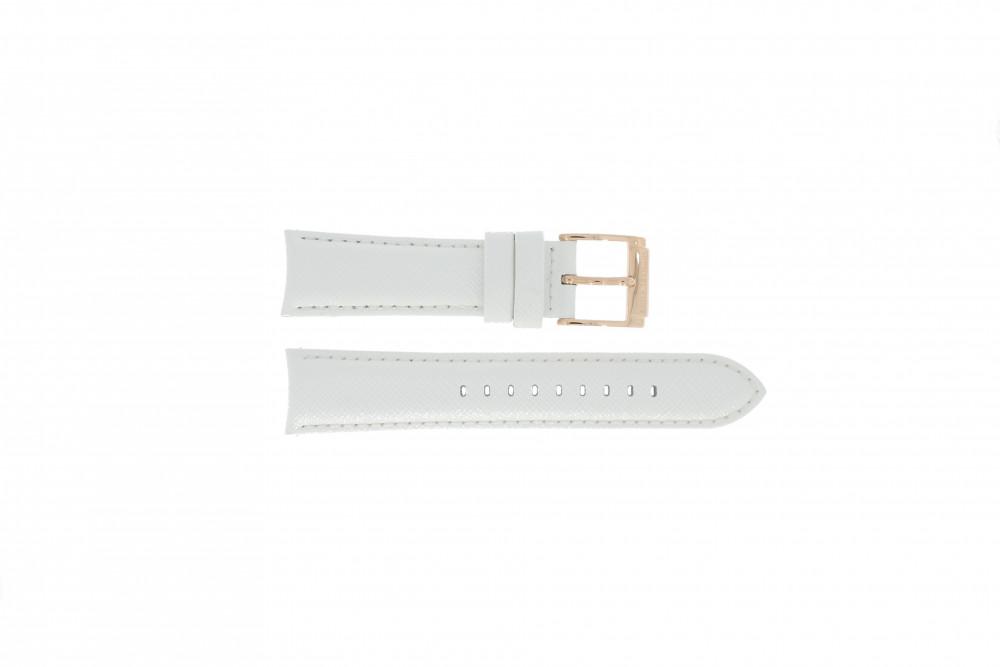 a0974023fd2 Pulseira de relógio Michael Kors MK2289 Couro Branco 22mm