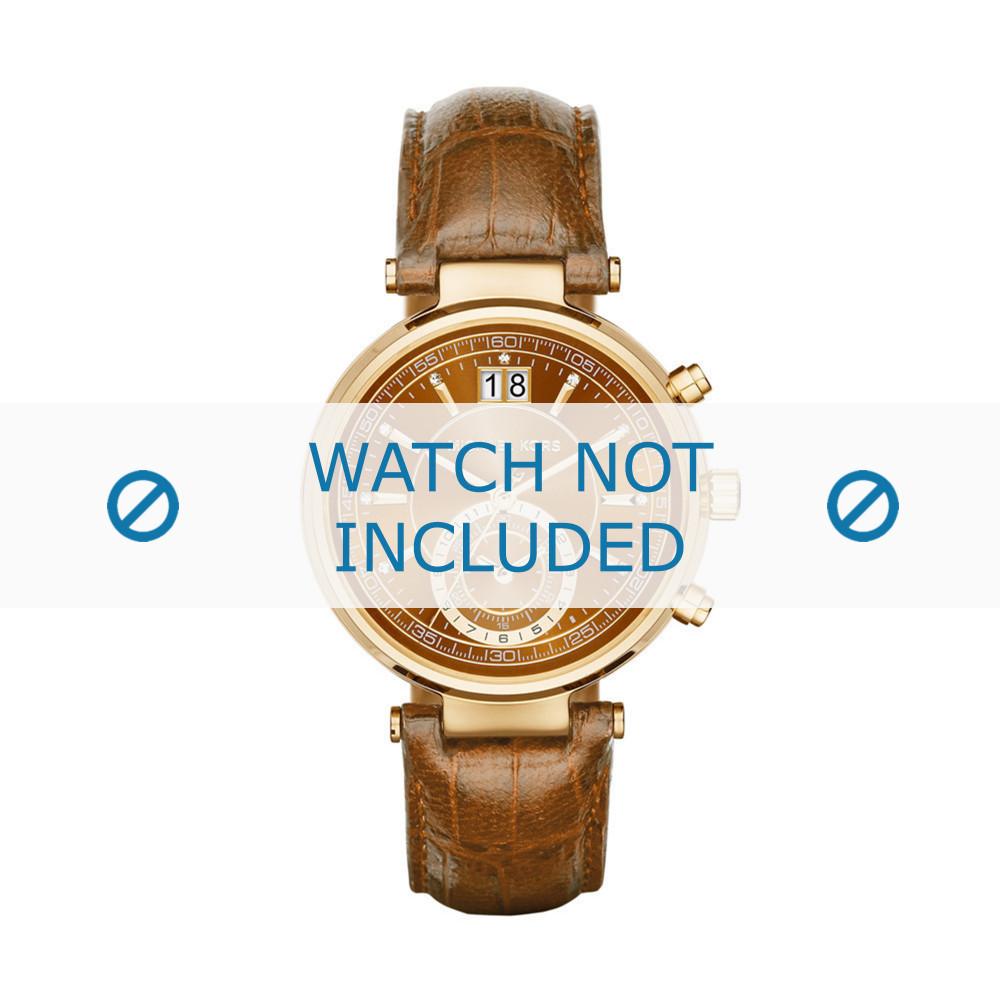 2044df28f Pulseira de relógio Michael Kors MK2424 Couro croco Conhaque 12mm
