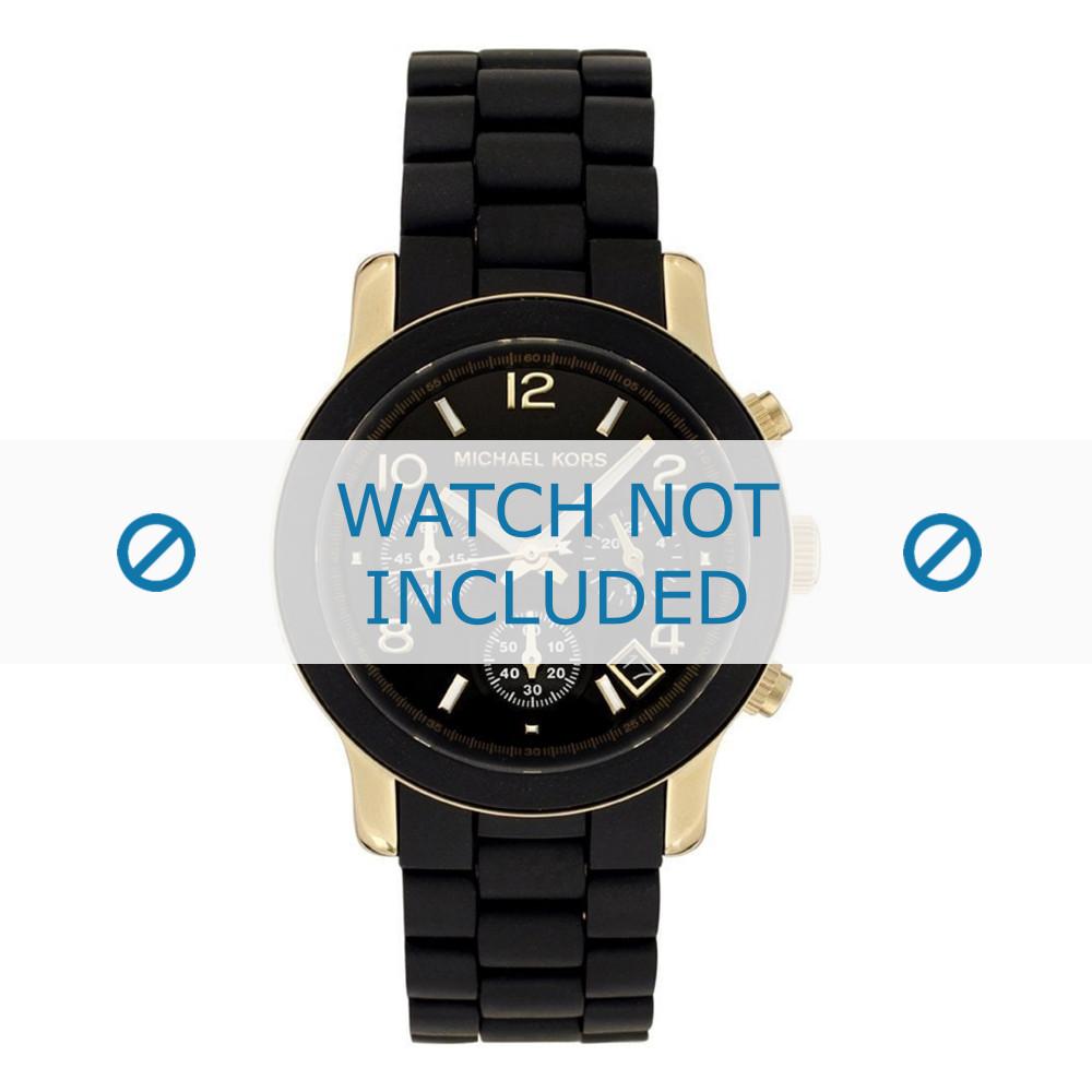12607b624 Pulseira de relógio (Combinação de pulseira + caixa) Michael Kors MK5191  Borracha Preto 20mm