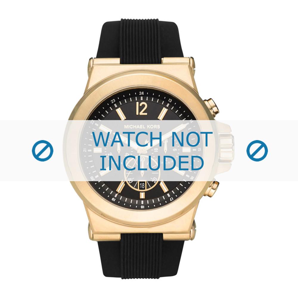 eae74f0d71b Pulseira de relógio Michael Kors MK8445 Borracha Preto 13mm