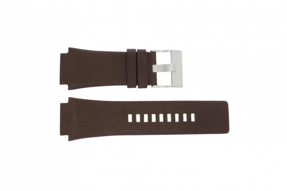 859517da3a5 Diesel pulseira de relógio DZ-1132 Couro Castanho 25mm