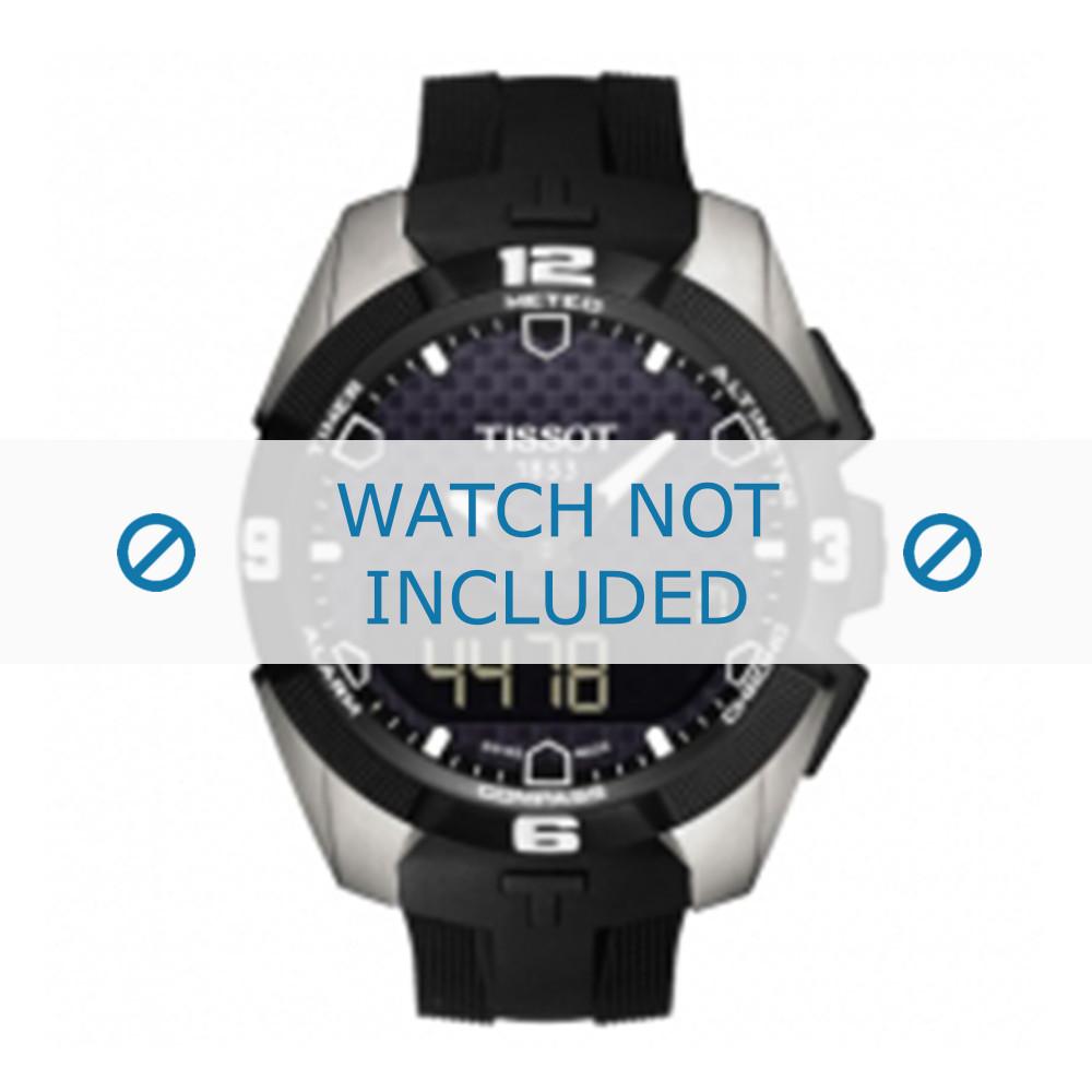 d5faf861804 Pulseira de relógio Tissot T091420A T-Touch Expert Solar - T610034733  Borracha Preto 22mm