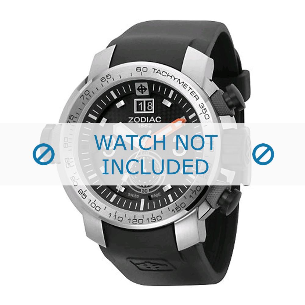abc56338088 Pulseira de relógio Zodiac ZO8505 Borracha Preto 28mm