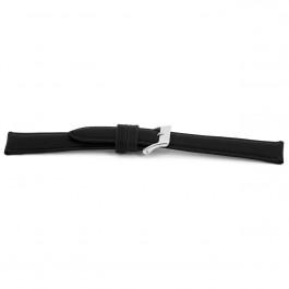 Pulseira de relógio Universal F010-XL Couro Preto 18mm
