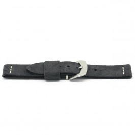 pulseira de couro genuíno 24mm EX-H127