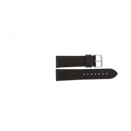 Pulseira de relógio Universal 283.02 Couro Marrom 24mm