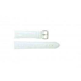 Pulseira de relógio Universal 285.09 Couro croco Branco 22mm