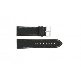 Pulseira de relógio Universal 307L.01 XL Couro Preto 18mm