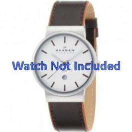 Pulseira de relógio Skagen 351XLSL Couro Marrom 20mm