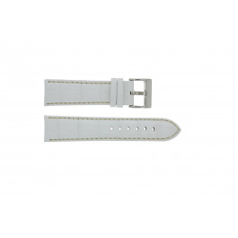 Pulseira de relógio Universal 378.22 Couro Branco 22mm