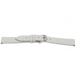 Pulseira de relógio Universal G501 Couro Branco 20mm