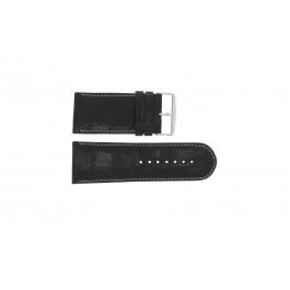 Pulseira de relógio Universal 61324.28Z Couro Preto 28mm