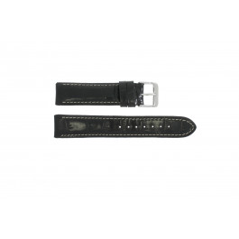 Pulseira de relógio Universal 61324.10.20 Couro Preto 20mm