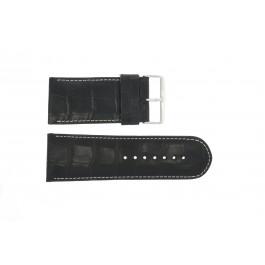 Pulseira de relógio Universal 61324EB.10.36 Couro Preto 36mm