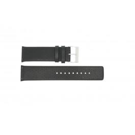 Pulseira de relógio Skagen 806XLTLM / 806XLTBLB Couro Preto 24mm