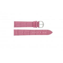 Pulseira de relógio Davis B0203.12 Couro Rosa 12mm