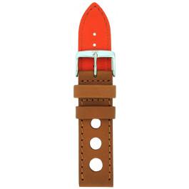 Pulseira de relógio Davis B0321 Couro Marrom 22mm