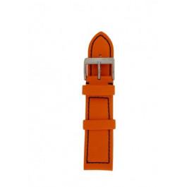 Pulseira de relógio Davis BB1026O Couro Laranja 22mm