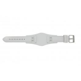 Pulseira de relógio Fossil CH2592 Couro Branco 22mm