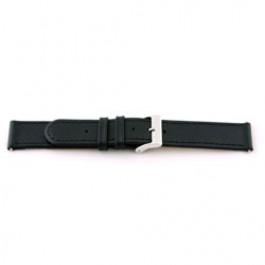 Pulseira de relógio Universal F100 Couro Preto 18mm