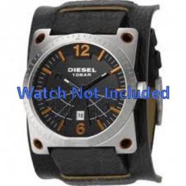Pulseira de relógio Diesel DZ1212 Couro Preto 28mm