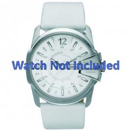 Pulseira de relógio Diesel DZ1405 Couro Branco 28mm