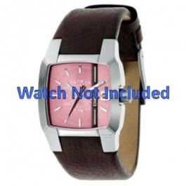 Pulseira de relógio Diesel DZ5100 Couro Marrom 18mm