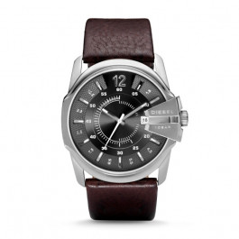 Pulseira de relógio Diesel DZ1206 / DZ2064 Couro Marrom 27mm