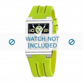 Festina pulseira de relogio F16224-3 Couro Verde 14mm + costura padrão