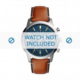 Pulseira de relógio Fossil FS5279 Couro Marrom 22mm