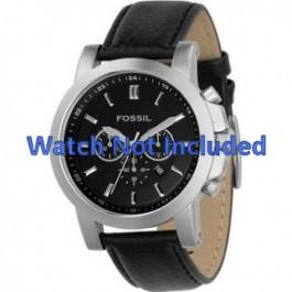 Pulseira de relógio Fossil FS4247 Couro Preto 22mm