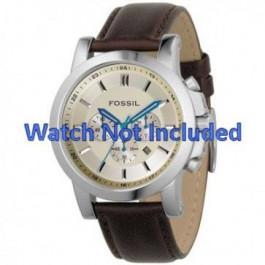 Pulseira de relógio Fossil FS4248 Couro Marrom 22mm