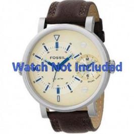 Pulseira de relógio Fossil FS4338 Couro Marrom 24mm