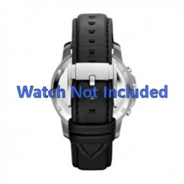 Pulseira de relógio Fossil FS4647 Couro Preto 22mm