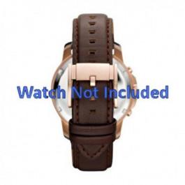Pulseira de relógio Fossil FS4648 Couro Marrom 22mm