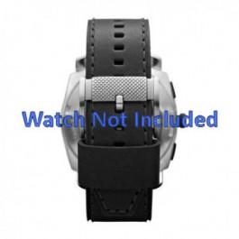 Pulseira de relógio Fossil FS4731 Couro Preto 24mm