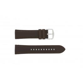 Pulseira de relógio Fossil FS4735 / FS4813 Couro Marrom 22mm