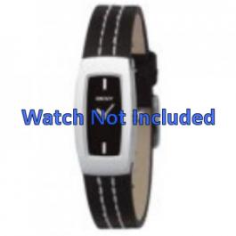 Pulseira de relógio DKNY NY3296 Couro Preto 15mm