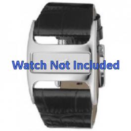 Pulseira de relógio DKNY NY4179 Couro Preto 29mm