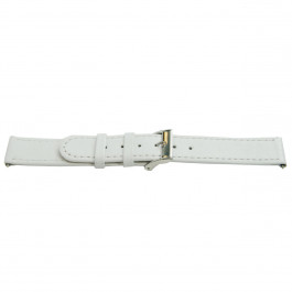 Pulseira de relógio Universal H500 Couro Branco 22mm